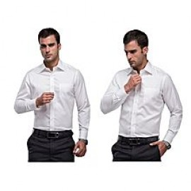 Mens FashionPlus 5 Pack Official Shirts - (White B..