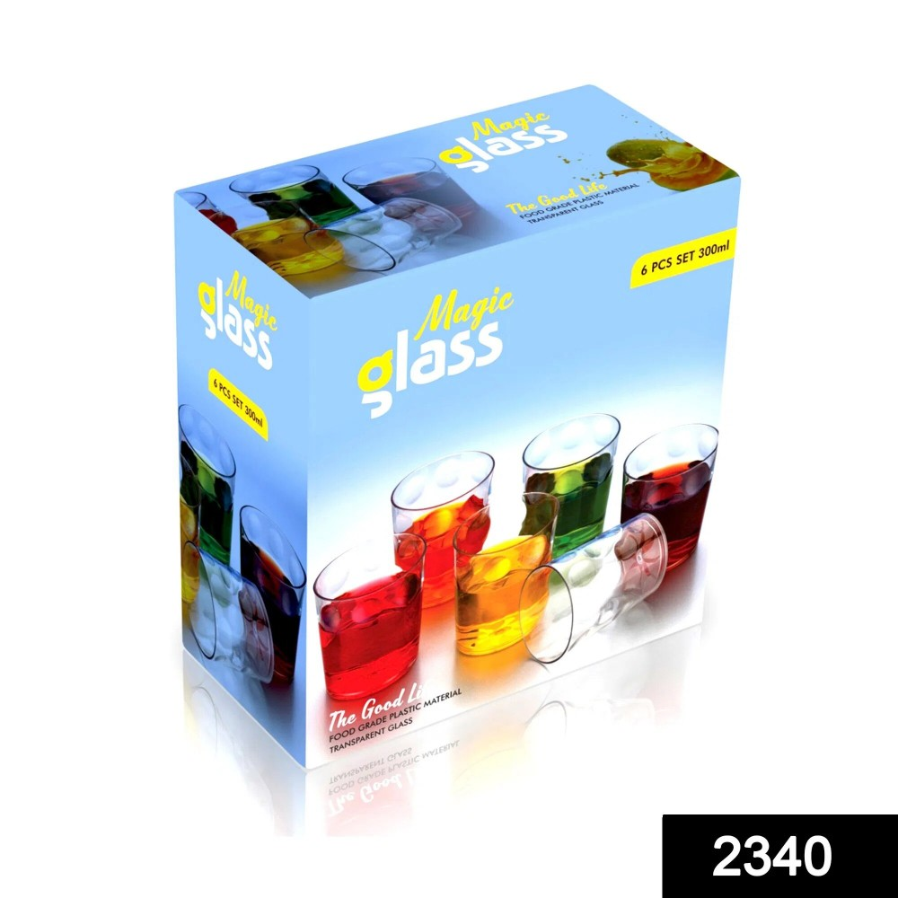 Multi Purpose Unbreakable Drinking Glass (Set of 6 Pieces) (300ml) 2340