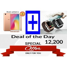 """Deals Discover smart phone OPPO F5 - 6""""  With Free Smart Watch DZ09 Smartwatch"""