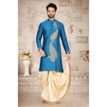 Shahensha Sky Blue Sherwani mens