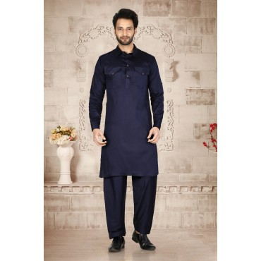 Shahensha Navy  Blue Bollywood Khan Style
